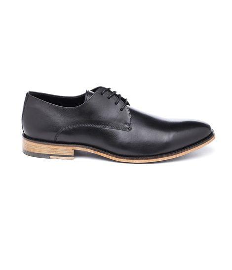Black Leather Wood Sole | Groomsmen