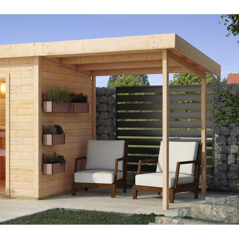 Karibu AnbauSchleppdach für Außensauna Haus, Saunahaus