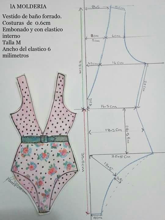 Bonito terno de baño | patrones | Pinterest | Bonito, Baño y Patrones