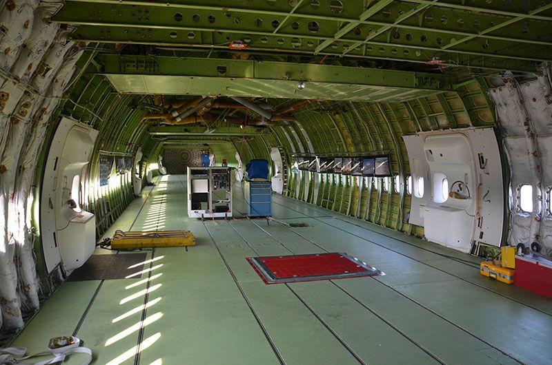 Inside NASA's shuttle carrier   Flight   Boeing 747 ...