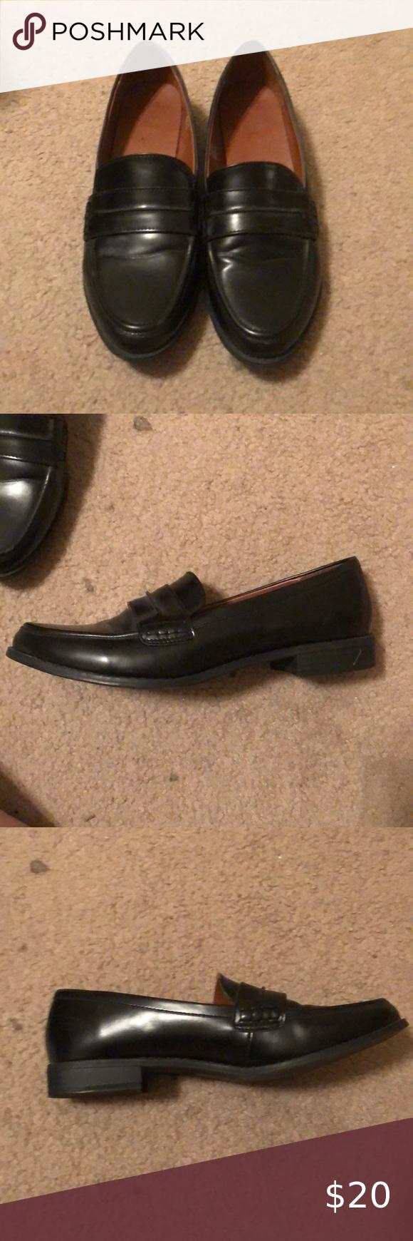 Black loafers women, Loafers