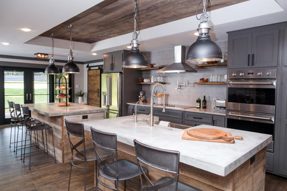 Stationary Kitchen Islands Pictures Ideas From Hgtv: Fixer Upper: Brick Cottage For Baylor Grads