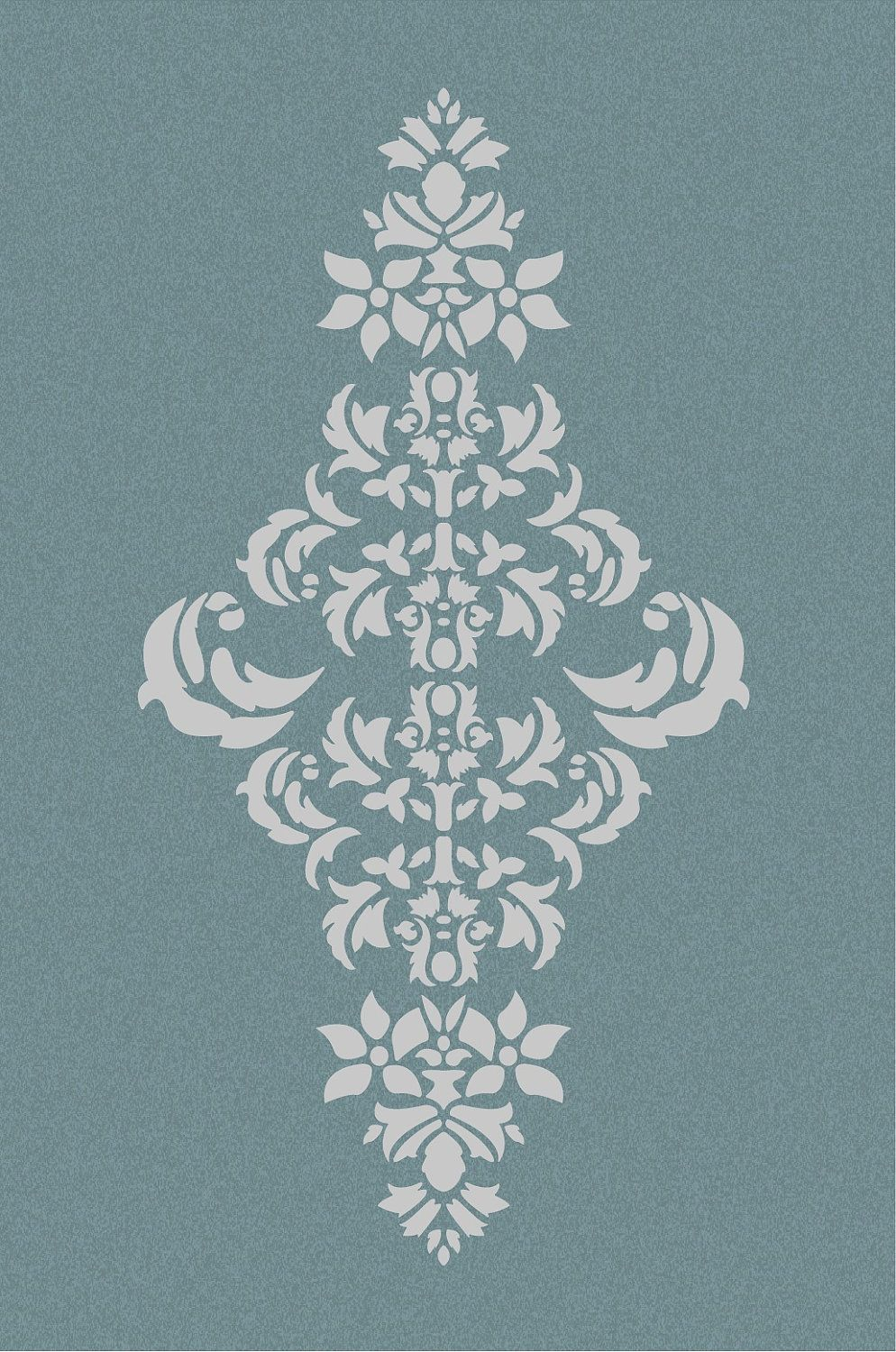 Large wall damask stencil pattern faux mural 1050 damask stencil large wall damask stencil pattern faux mural 1050 amipublicfo Image collections