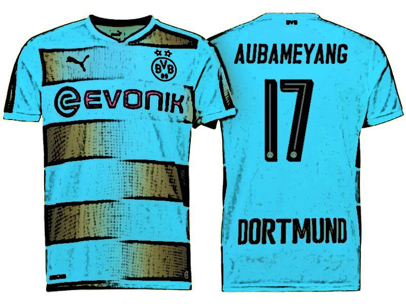 timeless design 4c7fc 7c3df BVB Jersey Shirt For Cheap pierre emerick aubameyang Home 17 ...