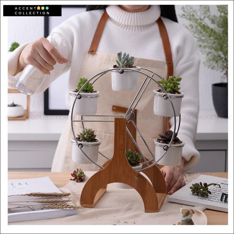 Photo of Set of 6 Succulent Planters On a Ferris Wheel