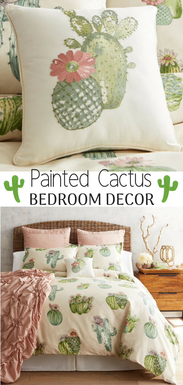 Beautiful Painted Cactus Duvet Cover And Sham From Pier 1 Imports Cactus Bedroom Decor Ad Affiliate Cactus Bedroom Duvet Bedding Sets Bedroom Furniture Sets