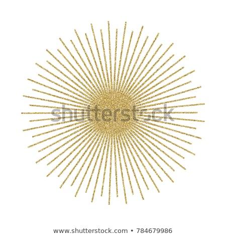 Abstract Golden Sunburst On White Background Vintage Sun Burst Design Element Geometric Shape Light Ray Vector Illustr Sunburst White Background Light Rays