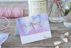 How to make watercolours wedding stationery diy wedding wedding place card name card table decoration to make at home diy wedding ideas and solutioingenieria Gallery