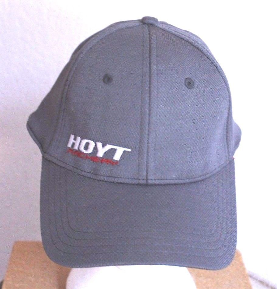 a64c6f28d4c Hoyt Archery Ball Cap Trucker Hat Fitted Size S M Grey Team Hoyt  TeamHoyt   BaseballCap