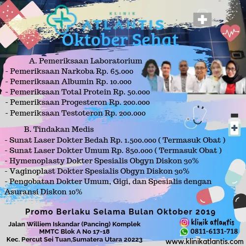Promo Oktober Sehat 2019 Atlantis Kedokteran Gigi Sunat