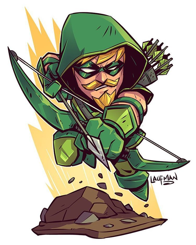 Chibi Green Arrow Derek Laufman