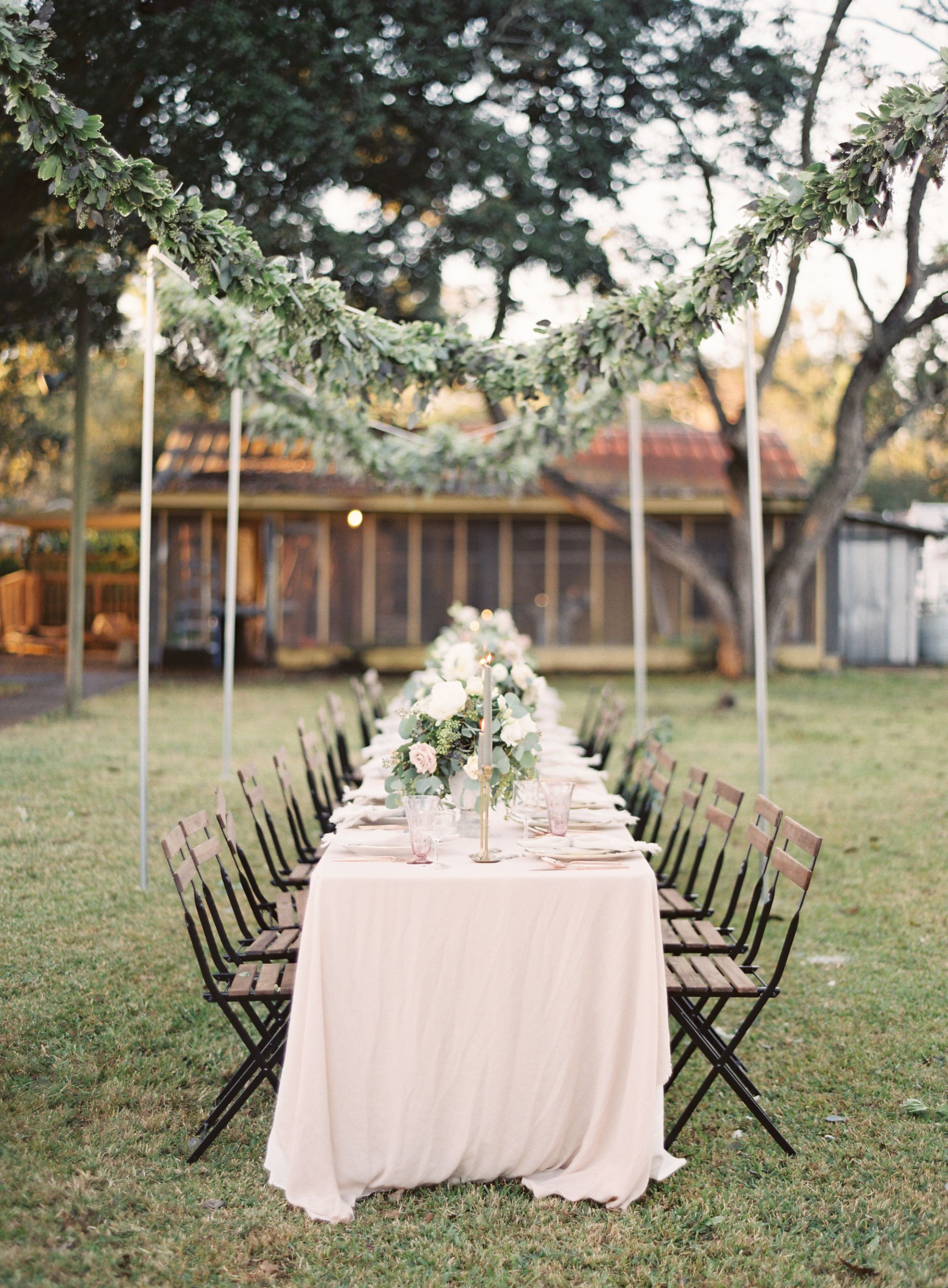 Maroon and white wedding decor  A Sweet Hometown Wedding with Personal Touches  Wedding Reception