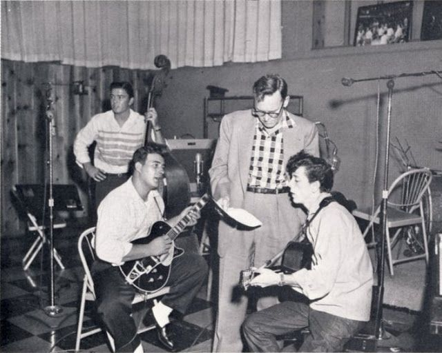 One of the few pictures of the legendary Cliff Gallup | Rockabilly ...