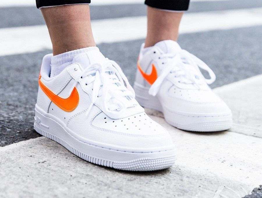 meilleur service b5c1c 5123b Nike Wmns Air Force 1 '07 Patent 'White Total Orange ...