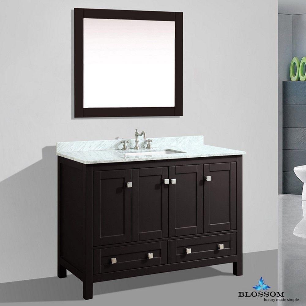 dubai 48 espresso free standing contemporary bathroom vanity white rh za pinterest com 60 Bathroom Vanity 48 Bathroom Vanity White