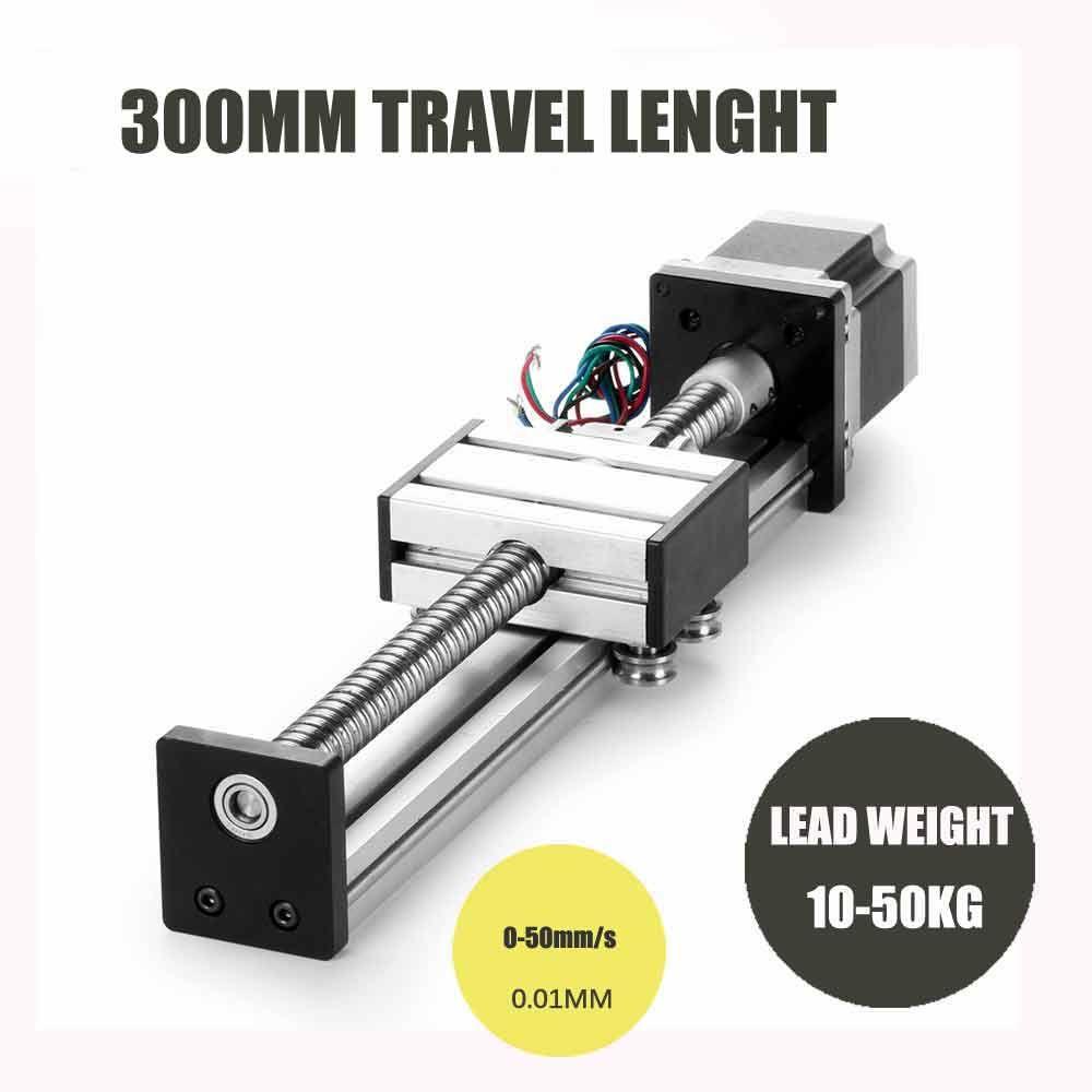 linear motion module 300mm travel length ballscrew 1605 sliding