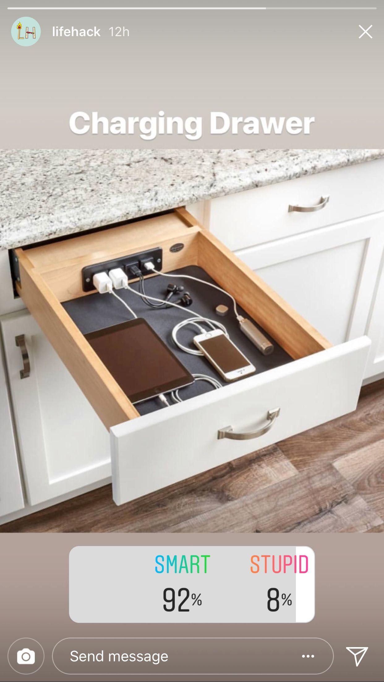 Charging Drawer Kitchenette Home Decor Kitchen
