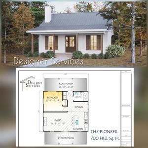 20x20 Tiny House 1 Bedroom 1 Bath 400 sq ft PDF Floor Plan Instant Download Model 1
