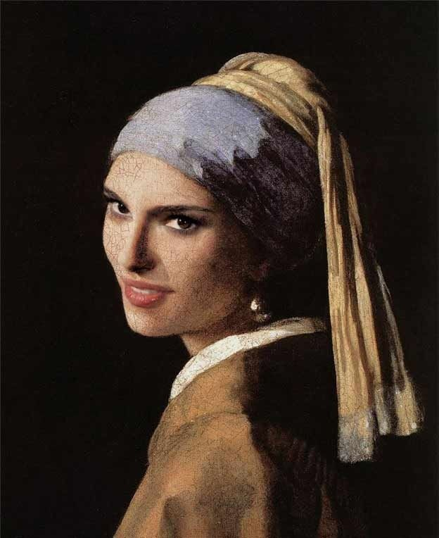 Natalie Portman.   35 Celebrities As Classic Paintings