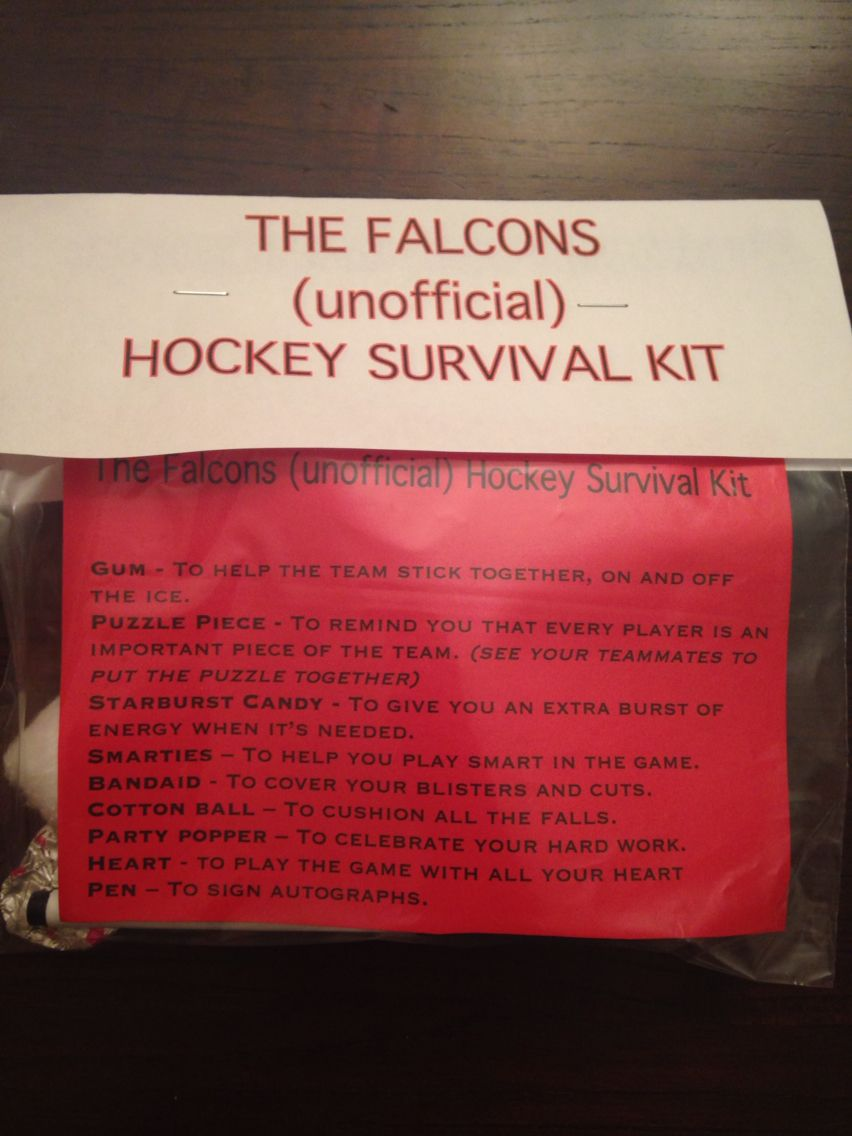 Hockey survival kit | Hockey | Pinterest | Survival kits, Hockey and Survival