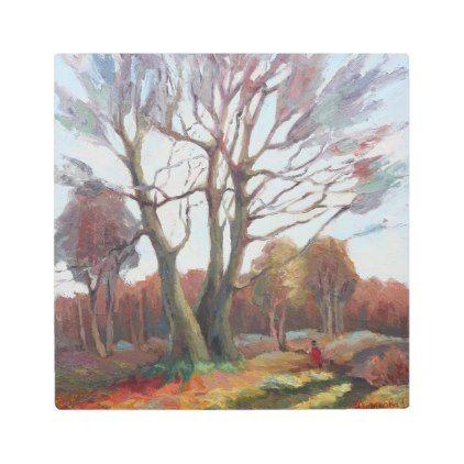 #wood - #Autumn landscape metal photo print
