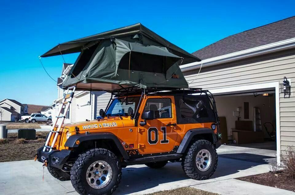 Pin By Michael Sulser On It S A Jeep Thing Jeep Tent Jeep Camping Jeep Cj