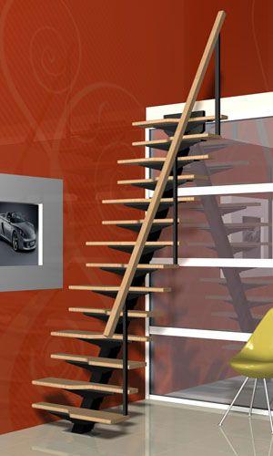 Escalera elegante, sobria y sencilla. modelo de escalera de pie ...