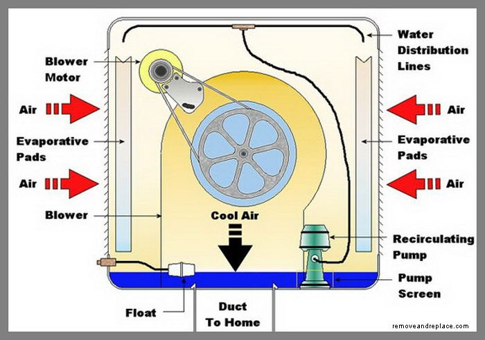 How Does An Evaporative Cooler Swamp Cooler Work Swamp Cooler Evaporative Cooler Alternative Energy