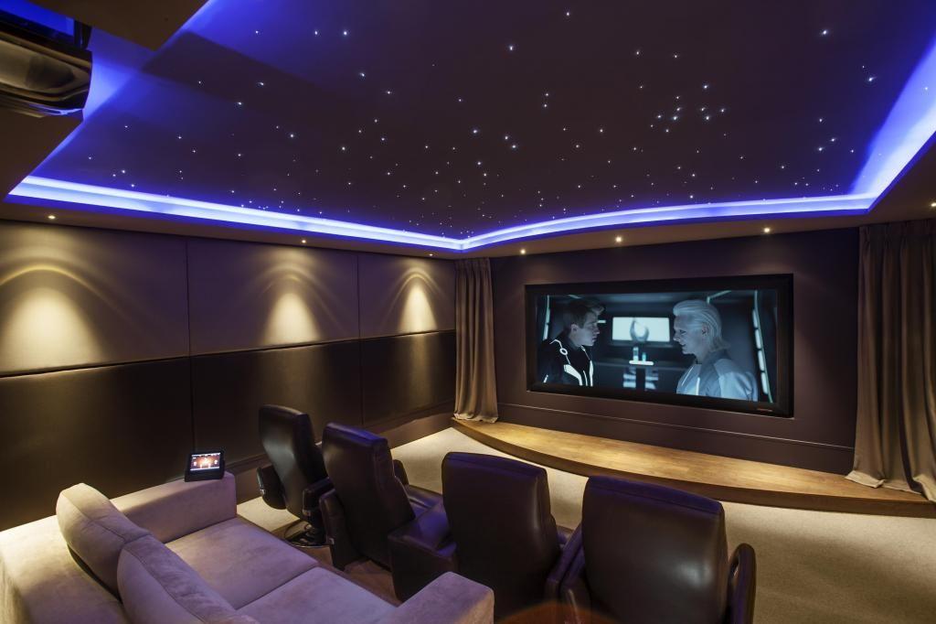 beautiful blue lighting for cinema design ideas with black and blue interior theme design ideas home