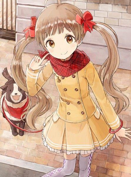 ✮ ANIME ART ✮ animal. . .dog. . .anime girl with animal. . .leash ...