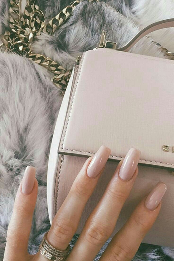 Glossy nude coffin nails nails in pinterest nails coffin