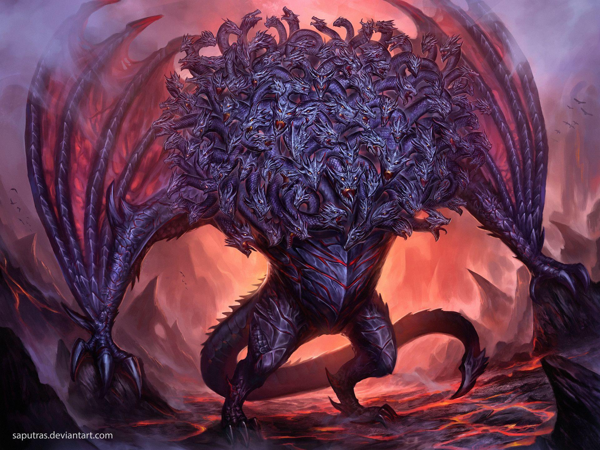 Dragon From Greek Mythology: Ladon,The 100 Headed Dragon, Yosi Saputras