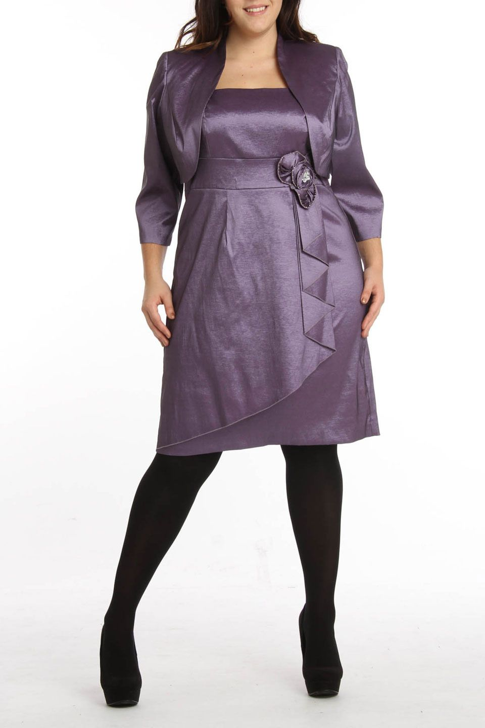 RM Richards Sarah Dress In Lavender - Beyond the Rack