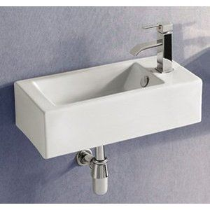 Make A Fine Addition To Your Bathroom With This Clic Elanti Wall Mounted Left Facing Rectangle Sink In White