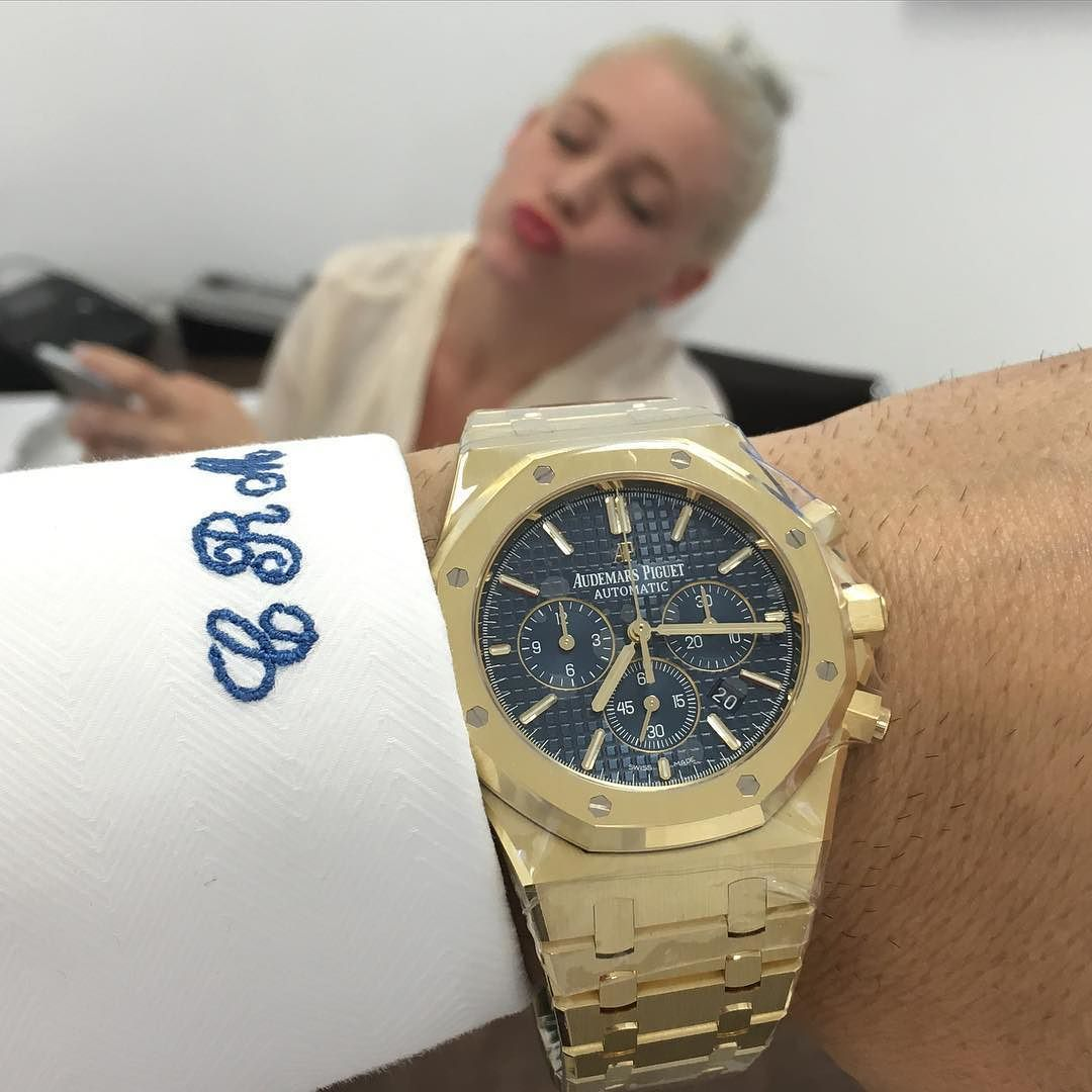 Yellow Gold APBlue Dial 41mm$47500 tag a friend who likes watches