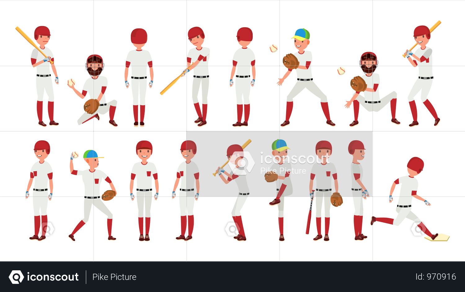 Premium Professional Baseball Player Gestures Illustration Download In Png Vector Format Baseball Players Professional Baseball Baseball