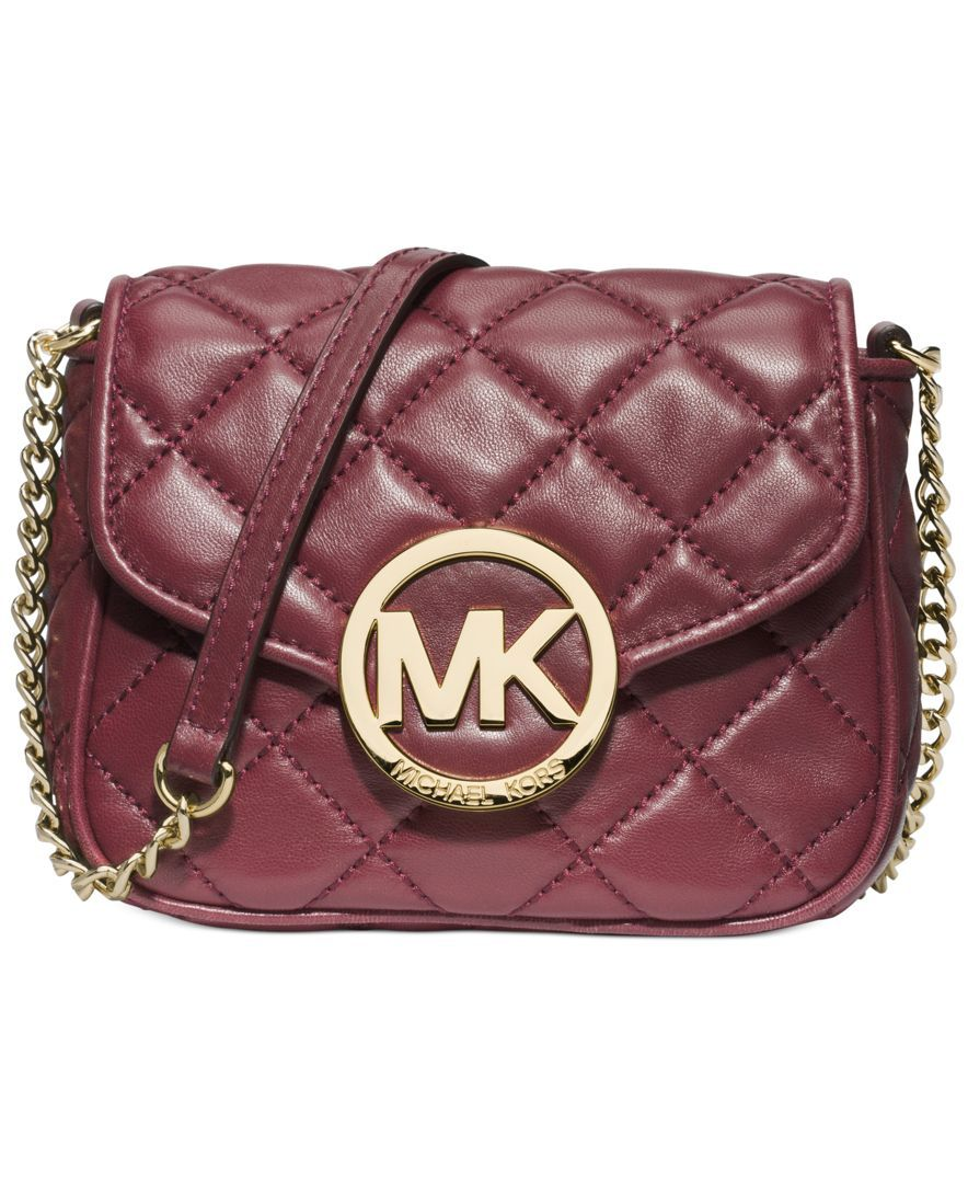 210d79705a9a Michael Michael Kors Fulton Small Quilted Crossbody | bag | Leather ...
