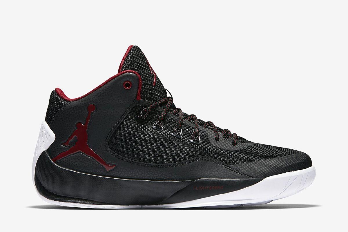 4ad56d4e100d07 Jordan Rising High 2 Men s Basketball Shoe  Black White Gym Red ...
