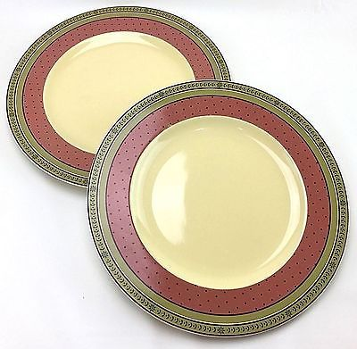 2 Waverly Garden Room Floral Manor Dinner Plates 10 5 8