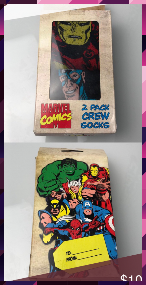 Marvel Comic 2Pack Crew Packs Brand new with tag ❤️ Excellent condition ❤... #2Pack #brand #Comic #condition #Crew #EXCELLENT #Marvel #Packs #Tag