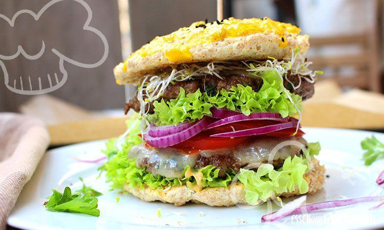 Low-Carb Burger (Cheeseburger) - Essen ohne Kohlenhydrate, #Burger #Cheeseburger #Essen #Kohlenhydrate #LowCarb #ohne