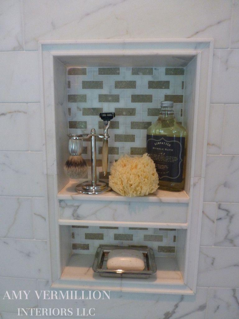 Amy Vermillion Interiors Llc Charleston Project Master Bath Shower Niche Bathrooms
