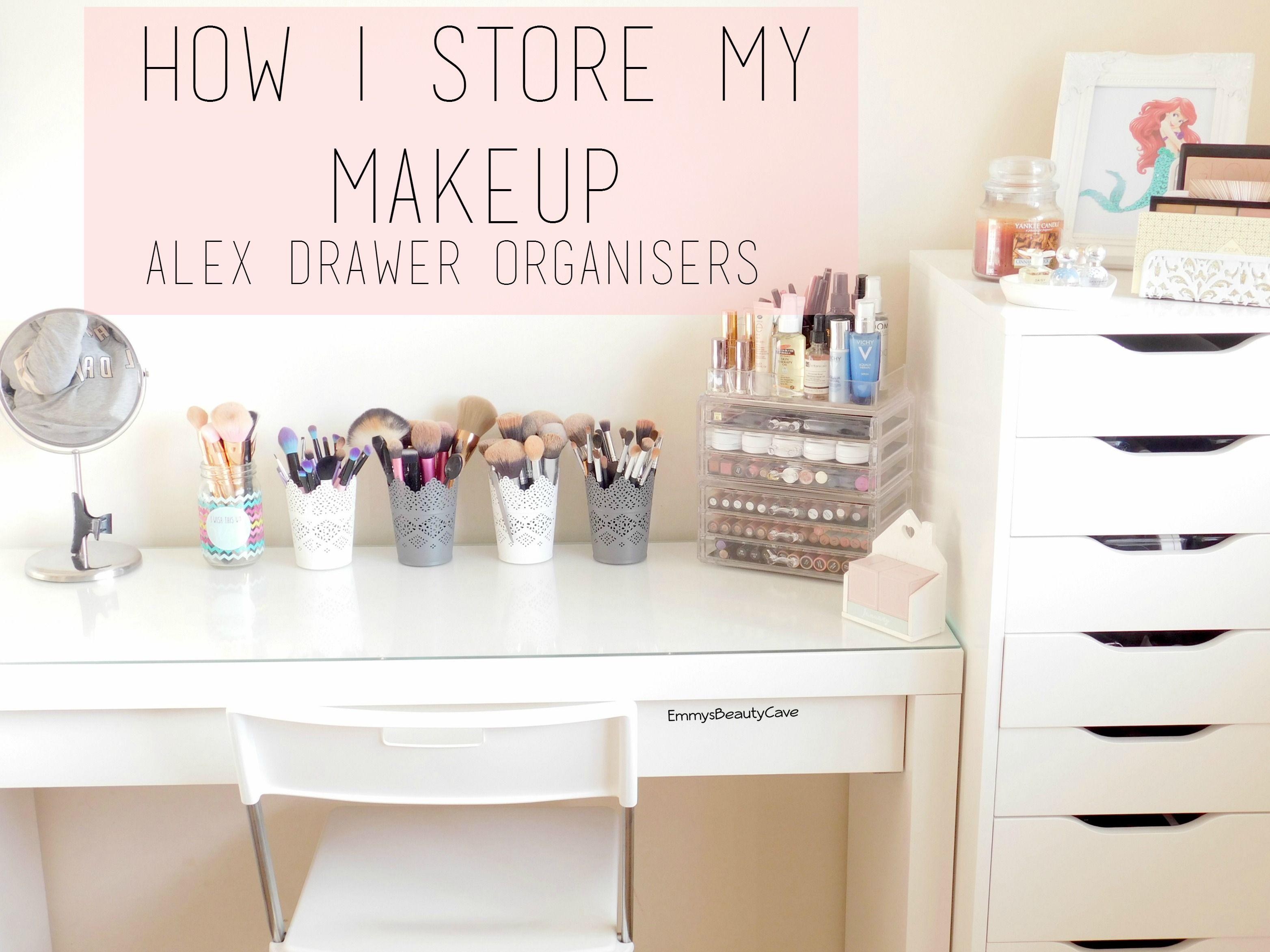 Makeup Storage Ikea Alex Drawers And Malm Dressing Table Ikea