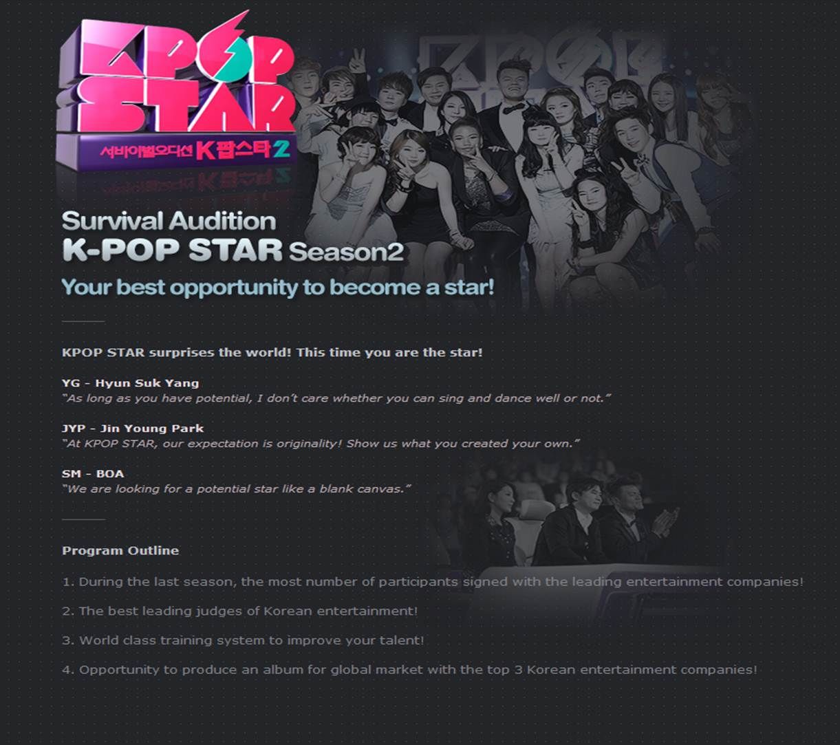Sbs Kpop Star 2 The Biggest Kpop Audition Program Www Kwave Tv To Join The Us China Japan Vietnam Thailand Audition K Pop Star Kpop Audition