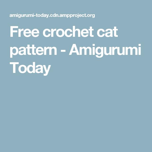 Free crochet cat pattern - Amigurumi Today