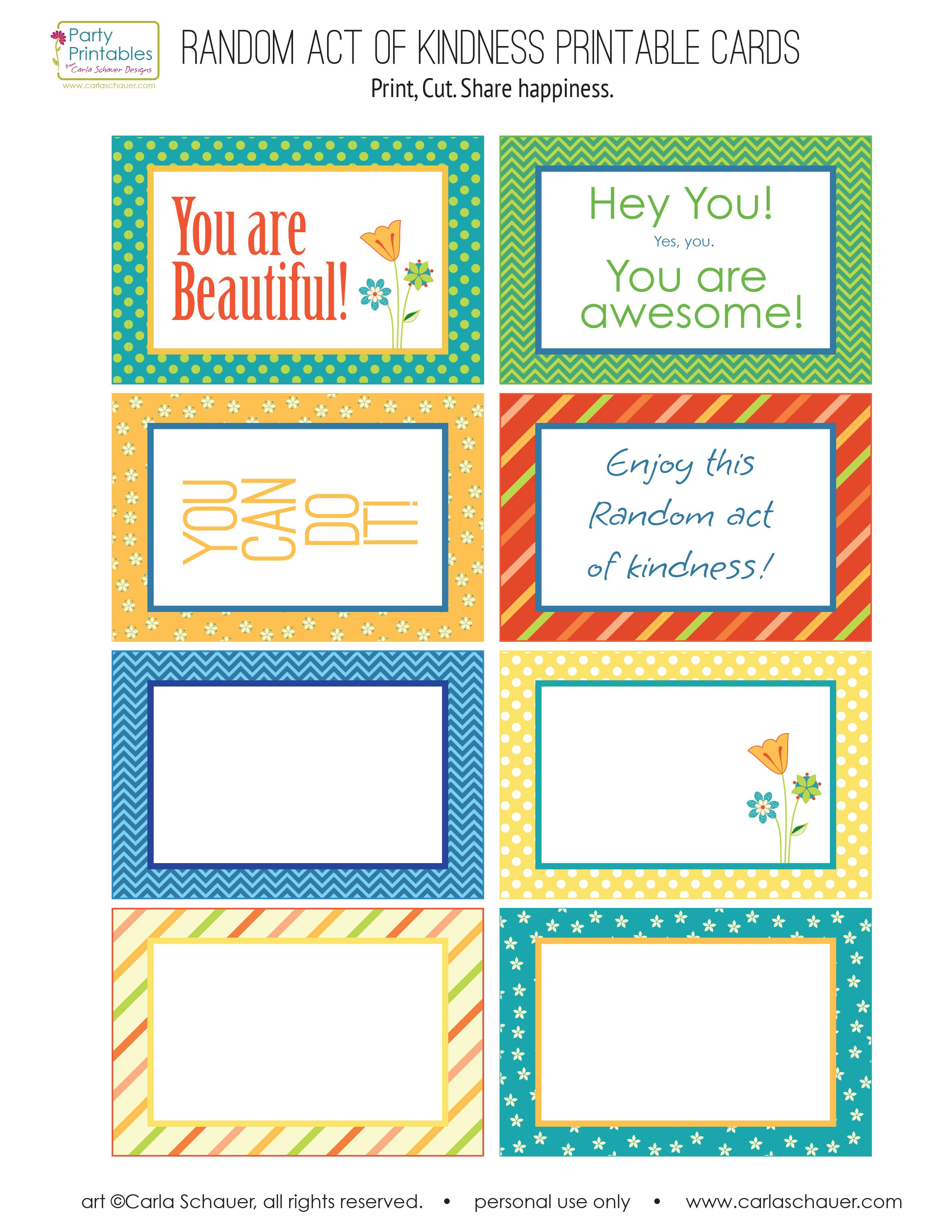 random act of kindness printable cards google search