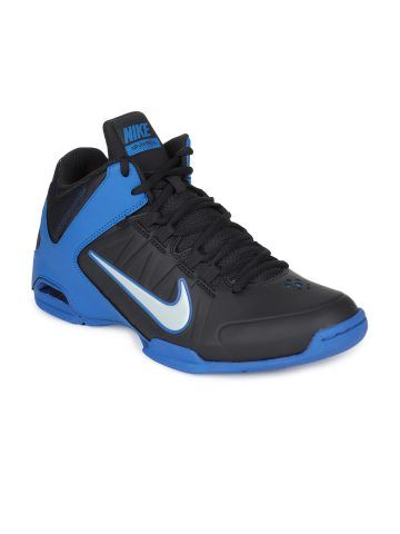 ba5e2c99ab52 Nike Men Black Blue AIR VISI PRO IV Sports Shoes - 599556-500-155282 -  Footwear for Men via  Myntra.com. Find this Pin and more on Basketball ...