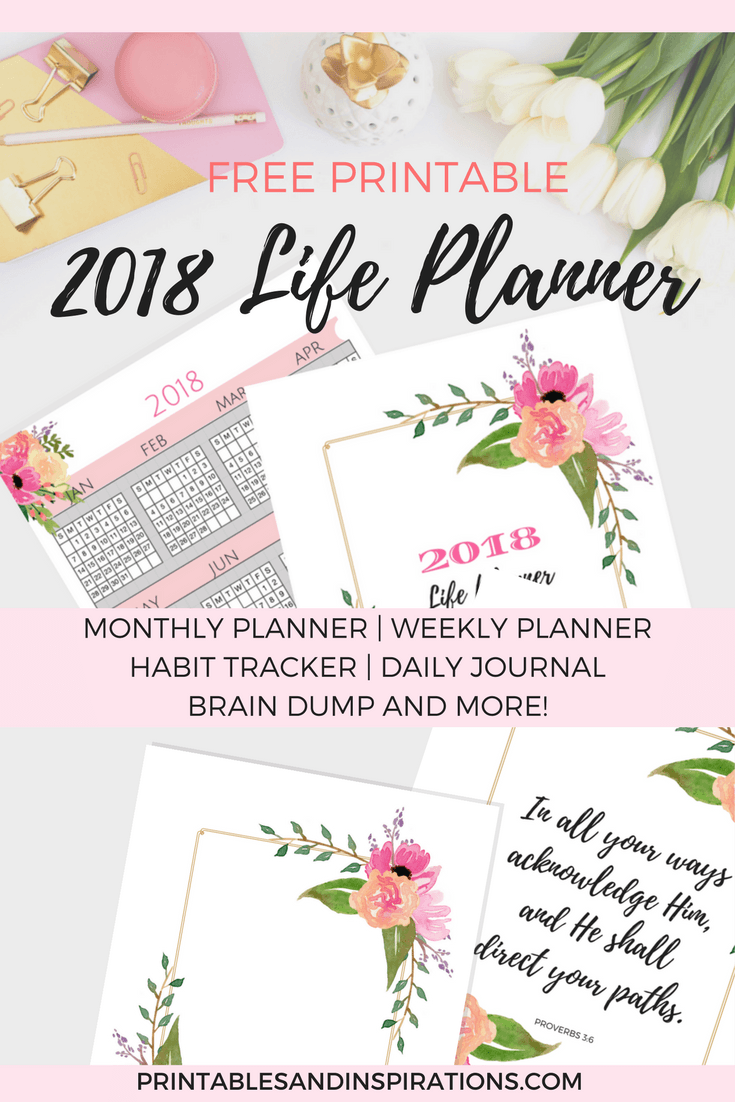 It's just a picture of Trust Free Printable Life Planner