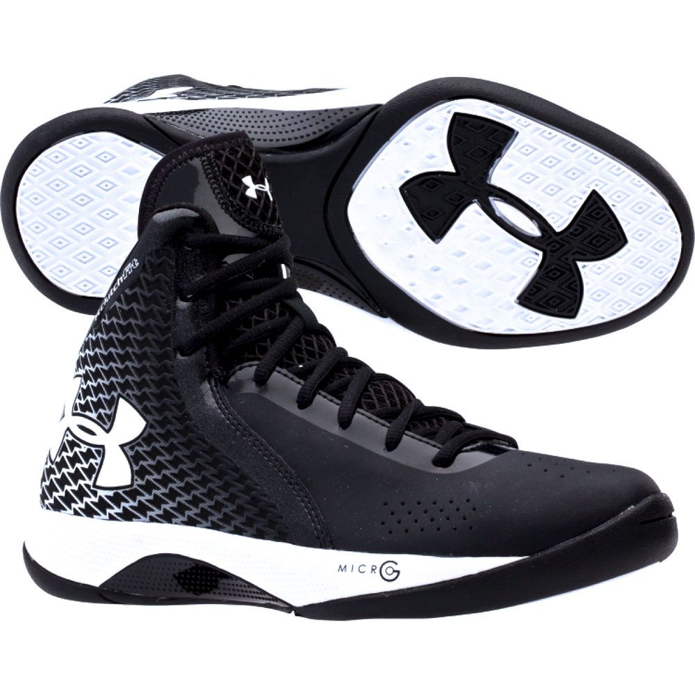 100% authentic c9bf9 0a93e Under Armour Women s UA Micro G Torch Basketball Shoe - Black White   Rise  to the occasion this season in the Under Armour® Micro G™ Torch basketball  shoe.
