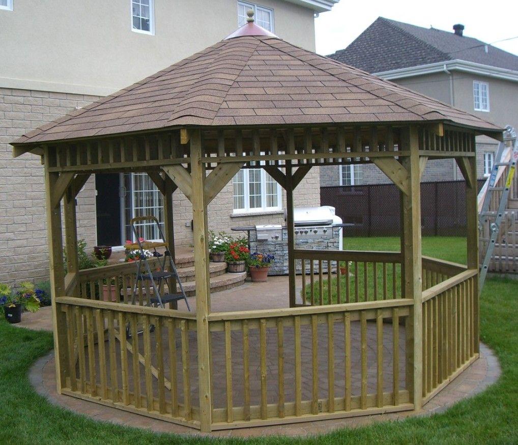 Free Building Plan For A Transitional Backyard Deck: Cheap Almost Free Gazebo Plans, Gazebo Plans For